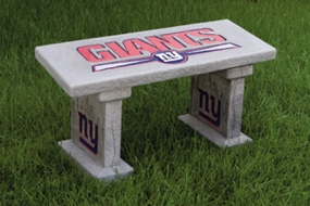 New York Giants Concrete Bench