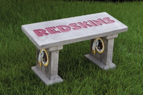 Washington Redskins Concrete Bench