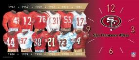 San Francisco 49ers Uniform History Clock