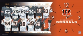 Cincinnati Bengals Uniform History Clock