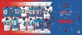 Buffalo Bills Uniform History Clock