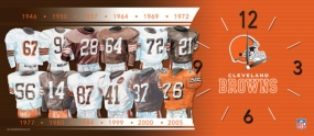 Cleveland Browns Uniform History Clock