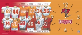Tampa Bay Buccaneers Uniform History Clock