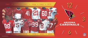 Arizona Cardinals Uniform History Clock