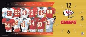 Kansas City Chiefs Uniform History Clock