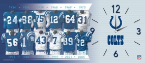 Indianapolis Colts Uniform History Clock