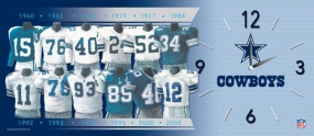 Dallas Cowboys Uniform History Clock