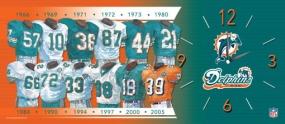 Miami Dolphins Uniform History Clock