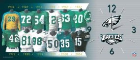 Philadelphia Eagles Uniform History Clock