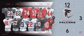 Atlanta Falcons Uniform History Clock