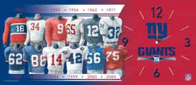 New York Giants Uniform History Clock