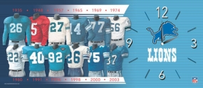 Detroit Lions Uniform History Clock