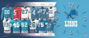 Detroit Lions Uniform History Clock