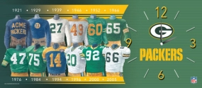 Green Bay Packers Uniform History Clock