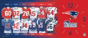 New England Patriots Uniform History Clock