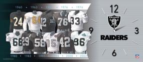 Oakland Raiders Uniform History Clock