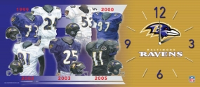 Baltimore Ravens Uniform History Clock