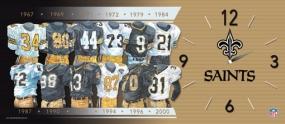 New Orleans Saints Uniform History Clock