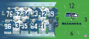 Seattle Seahawks Uniform History Clock