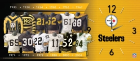Pittsburgh Steelers Uniform History Clock