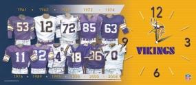Minnesota Vikings Uniform History Clock