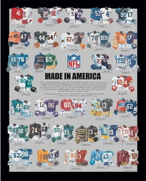 All NFL Teams 11 x 14 Uniform History Plaque
