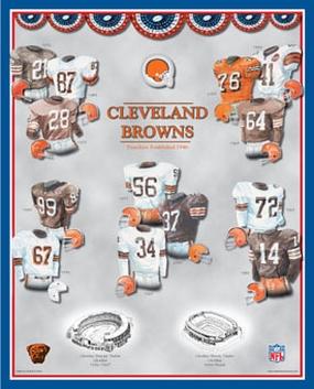 Cleveland Browns 11 x 14 Uniform History Plaque