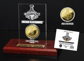 Chicago Blackhawks 2010 Stanley Cup Champions Etchced Acrylic