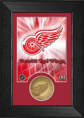 Detroit Red Wings Bronze Coin Team Mini Mint
