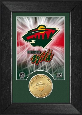 Minnesota Wild Bronze Coin Team Mini Mint