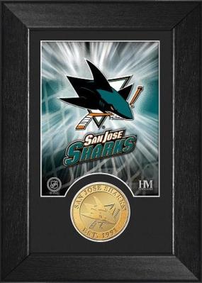 San Jose Sharks Bronze Coin Team Mini Mint