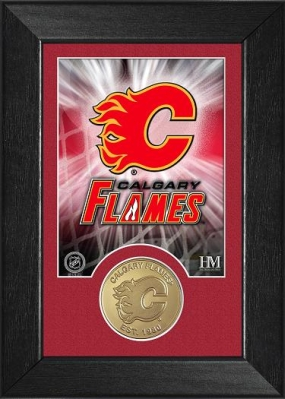 Calgary Flames Bronze Coin Team Mini Mint