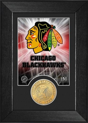 Chicago Blackhawks Bronze Coin Team Mini Mint