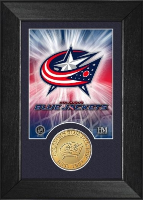 Columbus Blue Jackets Bronze Coin Team Mini Mint