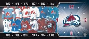Colorado Avalanche Uniform History Clock