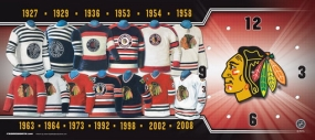 Chicago Blackhawks Uniform History Clock