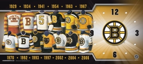 Boston Bruins Uniform History Clock