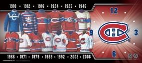 Montreal Canadiens Uniform History Clock