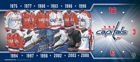 Washington Capitals Uniform History Clock