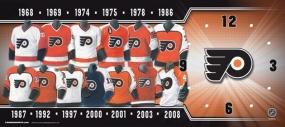Philadelphia Flyers Uniform History Clock