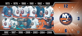 New York Islanders Uniform History Clock