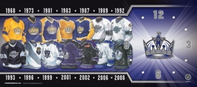Los Angeles Kings Uniform History Clock