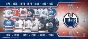 Edmonton Oilers Uniform History Clock