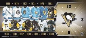 Pittsburgh Penguins Uniform History Clock
