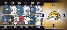 Buffalo Sabres Uniform History Clock