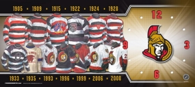 Washington Senators Uniform History Clock