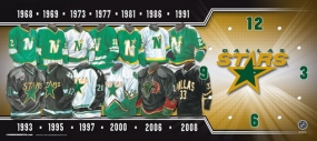 Dallas Stars Uniform History Clock