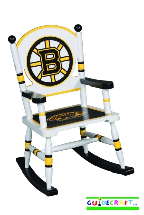 Boston Bruins Kid's Rocking Chair