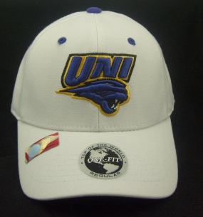 Northern Iowa Panthers White One Fit Hat