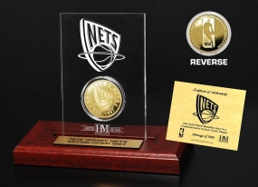 New Jersey Nets 24KT Gold Coin Etched Acrylic